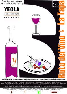 Ruta del Vino de Yecla os invita a la III ruta del vino y la tapa Tapas, Four Square, Symbols, Letters, Medium, Hotels, Restaurants, Wine, Wine Cellars