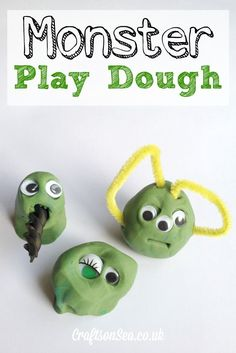 Monster Play Dough: An Invitation to Play that is perfect for Halloween!
