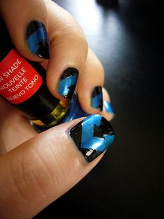Nightwing nail art