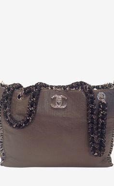 Chanel Grey Shoulder Bag