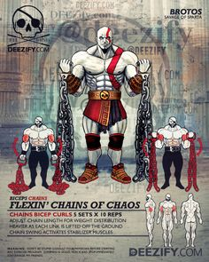 bicep exercises: bicep curls with chains kratos