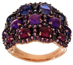 5.00 ct tw Multi-Gemstone Domed Band Ring, 14K