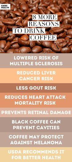 Research shows that increased coffee consumption can also prevent cavities, certain cancers and more…