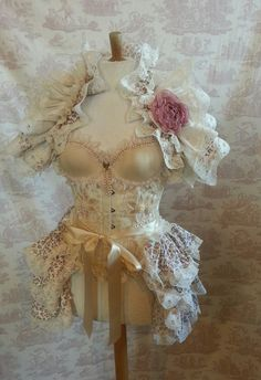 Steampunk Burlesque ROSEBUD drukte Victoriaanse door OpheliasFolly
