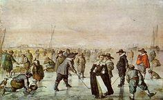 Hendrick Avercamp - Winter Scene (1600)