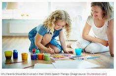 Worth Repeating: Why It's so Important for Parents to be Involved in their Child's Speech Therapy - pinned by @PediaStaff – Please Visit  ht.ly/63sNt for all our pediatric therapy pins