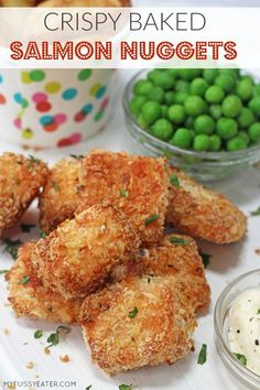 Kids Meals Delicious crispy baked salmon nuggets made using Norwegian Salmon. Easy to make and baked to keep them super healthy. Made with panko breadcrumbs. Healthy Meals For Kids, Kids Meals, Healthy Snacks, Healthy Eating, Healthy Recipes, Kids Meal Ideas, Food Ideas, Super Healthy Kids, Delicious Recipes