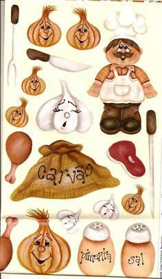 Cozinheiro e temperos