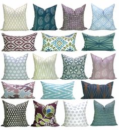 A great source for designer throw pillows + my picks for summer! via Bungalow Blue Interiors