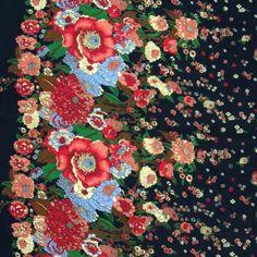 Print Cotton Lawn Design 56 Floral Navy Pink 150cm - 100% Cotton - Dressmaking - Fabric.  £4.99 per metre