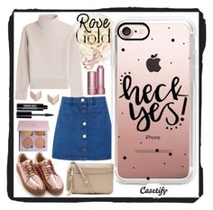 """""""Heck Yes! ✔️"""" by casetify ❤ liked on Polyvore featuring Gucci, Vanessa Seward, Miss Selfridge, Casetify, Witchery, FOSSIL, Edward Bess and Yves Saint Laurent"""