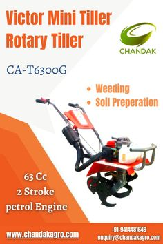 Chandakagro provided the best mini tiller in India for your yard or garden. our mini tillers are compact, lightweight, and easy to operate. for booking or details contact +91-9414481649 enquiry@chandakagro.com #MiniTiller