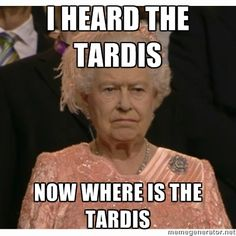 I heard the TARDIS... and i got so excited... then i wanted to cry