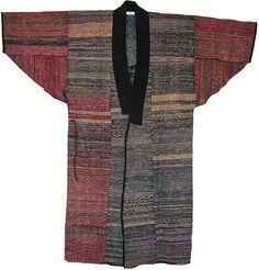 Sakiori (rag weaving) cotton 19th century Japanese man's coat