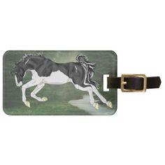 Black and White Splash Overo Paint Horse Luggage Tag