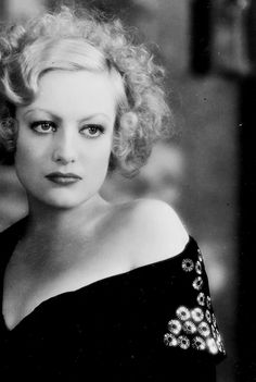 Joan Crawford in This Modern Age, 1931. She was pretty when she was young but when she aged the severe eyebrows where scary.