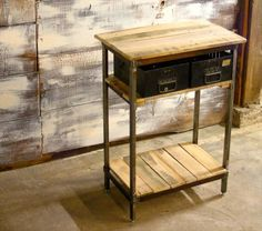 make a side table with shelves - Google Search
