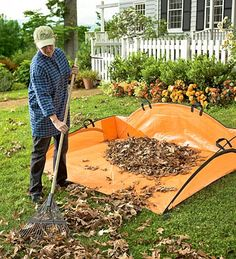 EZ Leaf Hauler: makes taking leaves easier must remember this for the fall