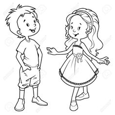 Boy And Girl Black White Clipart Free Clipground paberish me download free best quality on clipart email Boy drawing Easy drawings Girl drawing