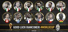 Juventus players in Brazil for World Cup