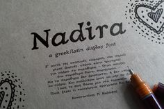 nadira font by nantia on Creative Market