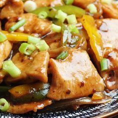Chicken in Black Bean Sauce Garlic Sauce For Chicken, Fried Chicken Recipes, Marinated Chicken, Bean Recipes, Sauce Recipes, Cooking Recipes, Chicken Stuffed Peppers, Stuffed Green Peppers, Black Bean Sauce Recipe