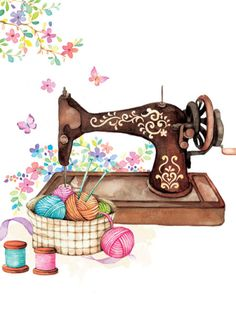 Ideas For Sewing Vintage Illustration Sarah Kay Easy Sewing Projects, Sewing Projects For Beginners, Sewing Hacks, Sewing Tips, Sewing Tutorials, Dress Tutorials, Sewing Ideas, Sewing Art, Love Sewing