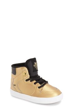 Supra 'Vaider' High Top Sneaker (Walker & Toddler) available at #Nordstrom