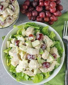This Paleo Whole30 Chicken Salad is easy, packed with fresh flavor, and so delicious! A great healthy no-cook meal for summer! The first time I remember having chicken salad was at my wedding shower. My husband's aunt hosted and had so much delicious food, but chicken mixed with grapes and ap