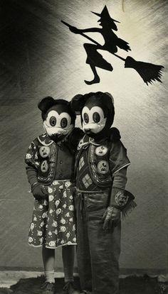 Mickey and Minnie, 1940s.