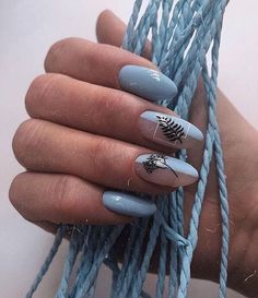 Nail art Christmas - the festive spirit on the nails. Over 70 creative ideas and tutorials - My Nails Nails Ideias, Nail Manicure, Nail Polish, Minimalist Nails, Best Acrylic Nails, Dream Nails, Stylish Nails, Blue Nails, Glitter Nails
