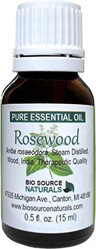 Rosewood is sometimes referred to as Bois-de-rose oil the scent is sweet woody fruity floral aroma. Blends well with Lavender Orange Lemon Tangerine Sandalwood Cedarwood and Geranium. Biosou...