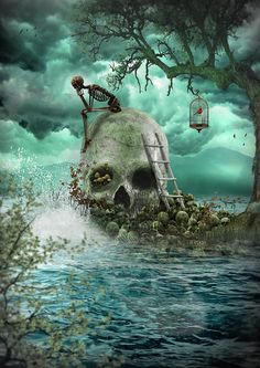 Marooned Beneath a Peppermint Sky by *danverkys on deviantART