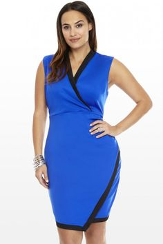 Plus Size Avery Crossover Dress | Fashion To Figure