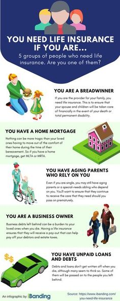 Who Needs Life Insurance - Infographic If you think life insurance is too complex, yet do not have the time to read up on it to understand why, here's a simple guide for you. Take heed, if you fall into any one of these groups, you need life insurance.