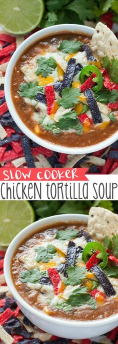 The recipe that launched 1000 requests :: My friends and family go NUTS over this super easy slow cooker tortilla soup!