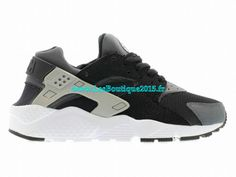 size 40 dcfd8 f8b2b Nike Air Huarache Chaussures Pour Homme Noir Wolf Gris-Dark Gris-Blanc  654275-001