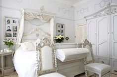 victorian bedroom all in white