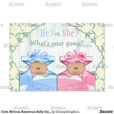 Shop Cute Baby Gender Reveal Party Babies in Boxes Invitation created by GroovyGraphics. Personalize it with photos & text or purchase as is! Box Invitations, Gender Reveal Party Invitations, Baby Gender Reveal Party, Custom Baby Shower Invitations, Baby Shower Invitation Cards, Classy Baby Shower, Doodles, Create Your Own Invitations, Reveal Parties