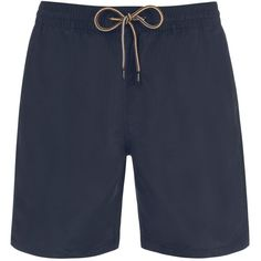 Paul Smith Men's Classic-Fit Navy Long Swim Shorts ($91) ❤ liked on Polyvore featuring men's fashion, men's clothing, men's swimwear, navy, mens clothing, mens swimshorts, mens apparel, mens swim trunks and mens swimwear