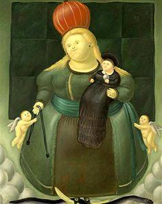 Fernando Botero Madonna and Child (Nuestra Señora del Carmen), 1967