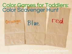 Color Games for Toddlers - Popsicle Stick Color Matching -- Moms ...