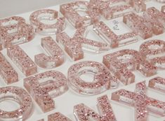 Diy Resin Crafts, Sensory Bins, Resin Art, Make And Sell, Mtb, Art Inspo, Blush Pink, Concrete, Alphabet