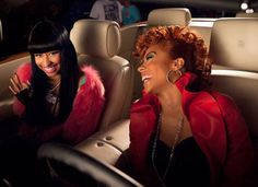 nicky in fur with keisha coles