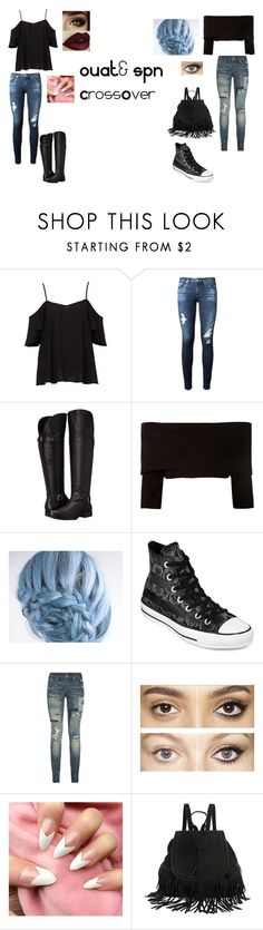 """""""OUAT &SPN CrossOVer"""" by moiraine01 ❤ liked on Polyvore featuring AG Adriano Goldschmied, Naturalizer, Dorothee Schumacher, Converse, Polo Ralph Lauren and Charlotte Tilbury"""