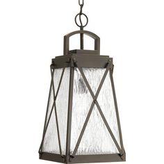 Creighton Collection 1 -Light Outdoor Antique Bronze Hanging Light