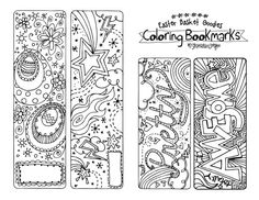 Printable bookmarks to color-- indoor recess idea
