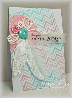 Bridget's Paper Blessings: Fine Feathers, stencil