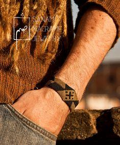 SANAM Indus macrame bracelet unisex by SanamHandmade on Etsy, €35.00