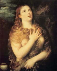 Mary Magdalen Repentant via Titian